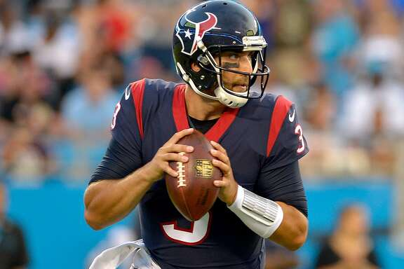 Fourth-year quarterback Tom Savage, dropping back to pass in a preseason game at Carolina, is the most familiar with Texans coach Bill O'Brien's offense. But rookie Deshaun Watson pushing hard to be the starter.