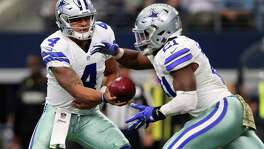 The stellar play of QB Dak Prescott (left) and RB Ezekiel Elliott helped Dallas improve from 4-12 in 2015 to 13-3 in 2016.