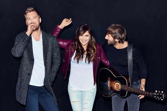 Lady Antebellum - Charles Kelley, left, Hillary Scott and Dave Haywood - will perform Saturday in The Woodlands.
