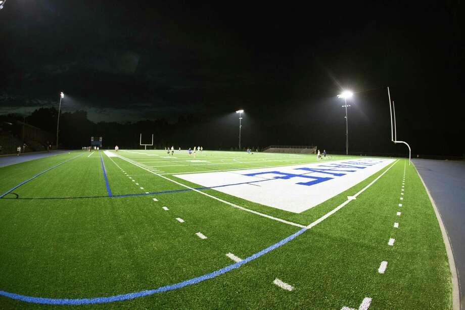 "The new ""Friday Night Lights"" at Darien High School. Photo: Darien News/Mark Maybell / Contributed Photo / Darien News"