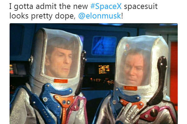 SpaceX CEO Elon Musk has released a concept photograph of the company's new spacesuit. As with all things nerdy, Twitter comedians took their turns ribbing Musk's latest piece of work.