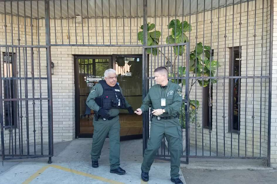 The Texas Attorney General's Office and the Precinct 1 Webb County Constable's Office raided Las Flores Adult Day Care on Wednesday, Aug. 23, 2017.