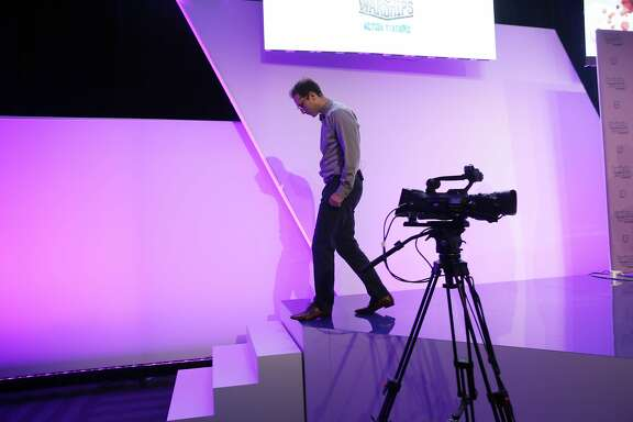 Twitch CEO Emmett Shear walks off stage after speaking during the keynote during Twitchcon at Moscone West on Friday, September 25, 2015 in San Francisco, Calif.