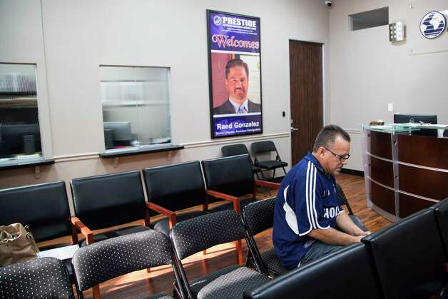 Juan Rodriguez sits on the offices of his immigration lawyer Raed Gonzalez early morning, Tuesday, Aug. 22, 2017, in Houston. Gonzalez asked Rodriguez to meet to explain Rodriguez the immigration court's decision to not reopen his case. Photo: Marie D. De Jesus, Houston Chronicle / © 2017 Houston Chronicle