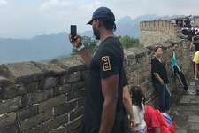 He visited the Great Wall
