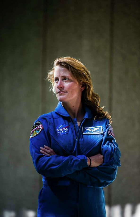Loral O'Hara, one of NASA's 12 newest astronaut candidates, started her second day of training at NASA's Johnson Space Center on Tuesday. Photo: Mark Mulligan, Staff Photographer / 2017 Mark Mulligan / Houston Chronicle