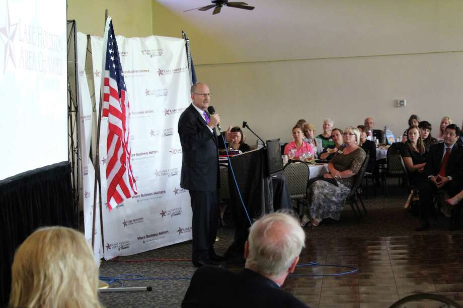 The Lake Houston Area Chamber of Commerce hosted a luncheon inviting Ted Poe to speak on policies and updates at the federal level. Photo: Dina Kesbeh