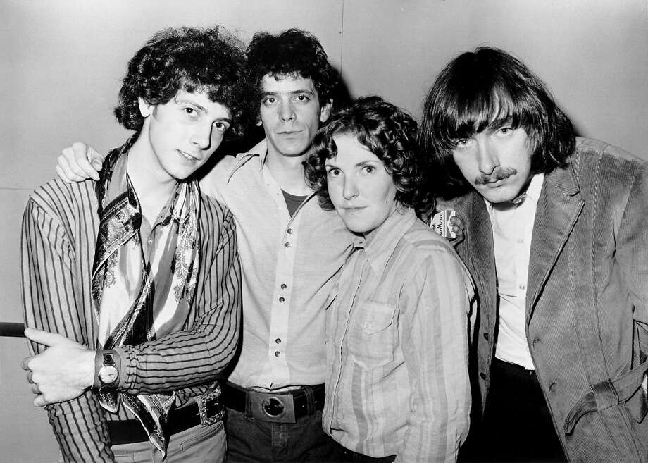 """The Velvet Underground circa 1969. 1970: (L-R) Doug Yule, Lou Reed, Maureen """"Moe"""" Tucker and Sterling Morrison of the rock and roll band """"Velvet Underground"""" pose for a portrait in 1970. (Photo by Michael Ochs Archives/Getty Images) Photo: Michael Ochs Archives, UMG"""