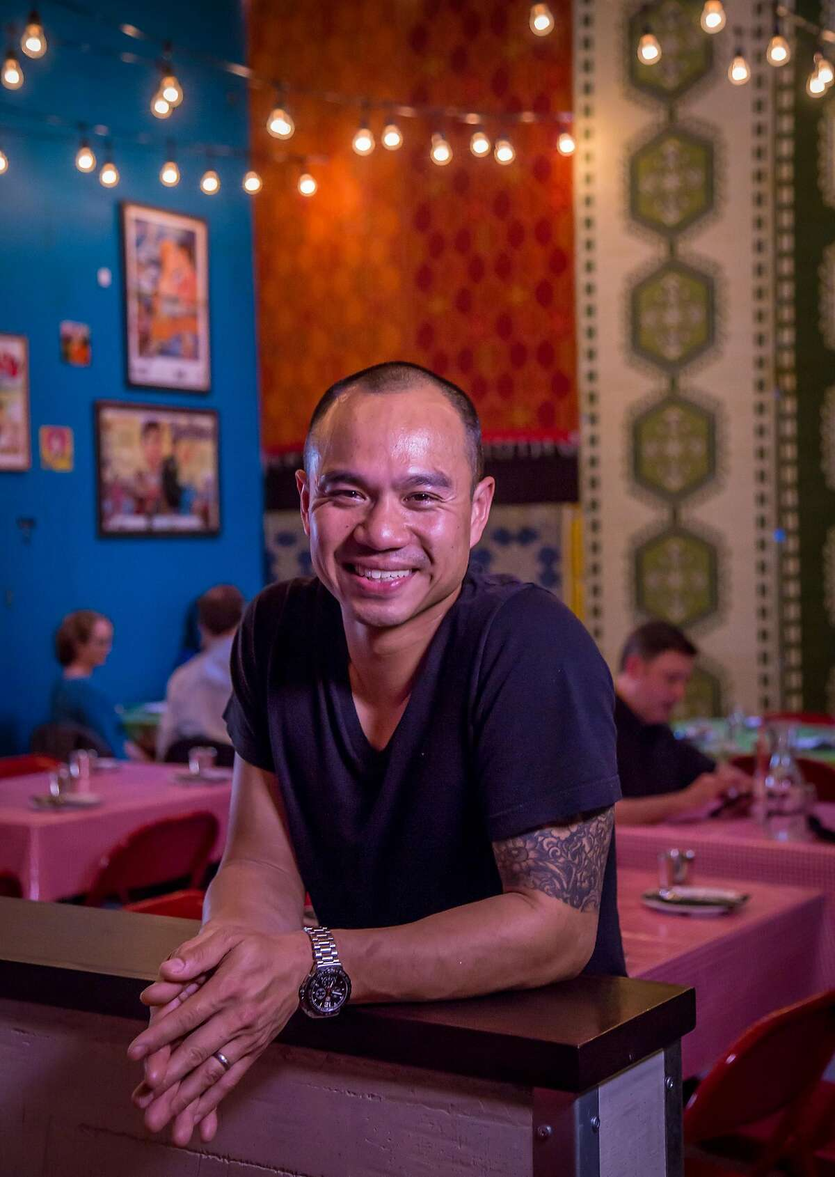 Chef James Syhabout at Hawker Fare in San Francisco, Calif., is seen on Thursday, March 19th, 2015.