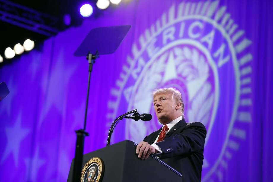 President Donald Trump speaks at the National Convention of the American Legion, Wednesday, Aug. 23, 2017, in Reno, Nev. (AP Photo/Alex Brandon) Photo: Alex Brandon, Associated Press