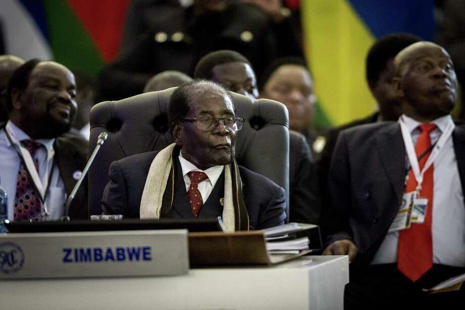 "The regime of President Robert Mugabe of the Republic of Zimbabwe, here at the opening session of the 37th Southern African Development Community (SADC) Summit of Heads of State and Government in South Africa, has begun using the label ""fake news"" and otherwise taking comfort from the actions of President Trump. Photo: GULSHAN KHAN /AFP /Getty Images / AFP or licensors"