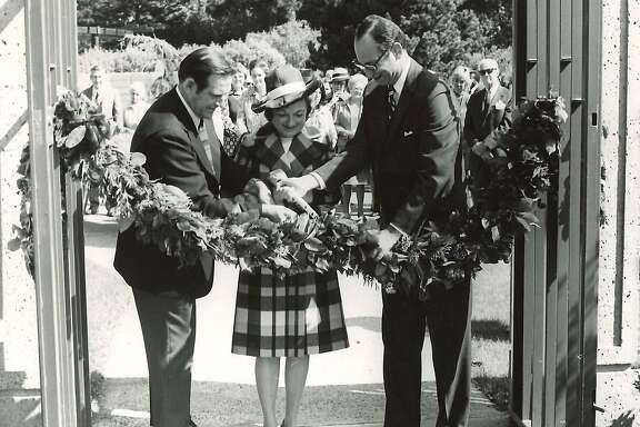 Opening day at the Helen Crocker Russell Library in 1972