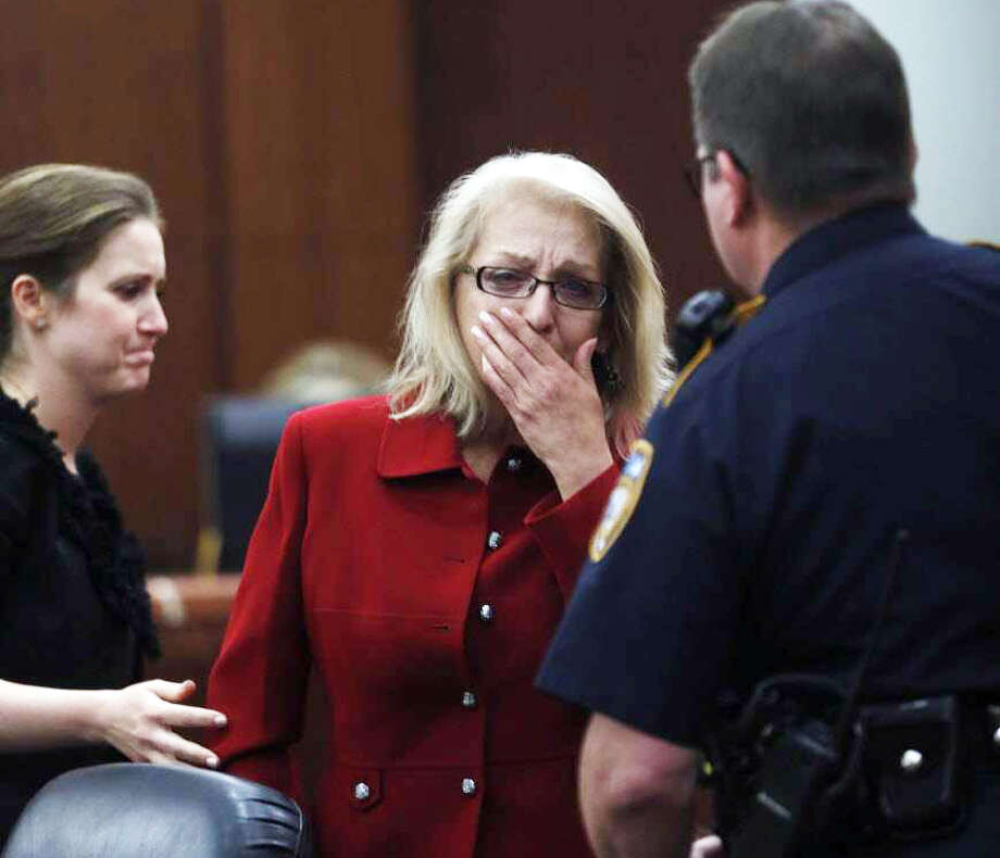 Sandra Melgar reacts after being convicted in the murder of her husband at the Criminal Courthouse, Wednesday, Aug. 23, 2017, in Houston. Photo: Karen Warren / Houston Chronicle