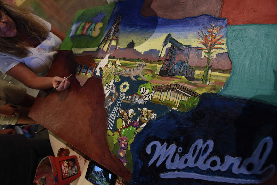 Progress of a collaborative art project for community members showcasing Midland's history and culture.  James Durbin/Reporter-Telegram Photo: James Durbin