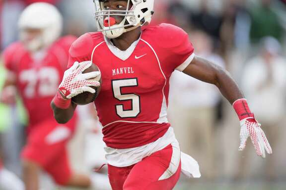 Texas A&M pledge Jalen Preston is part of a Manvel roster loaded with Division I commitments. The Mavericks are ranked No. 1 in Class 5A.
