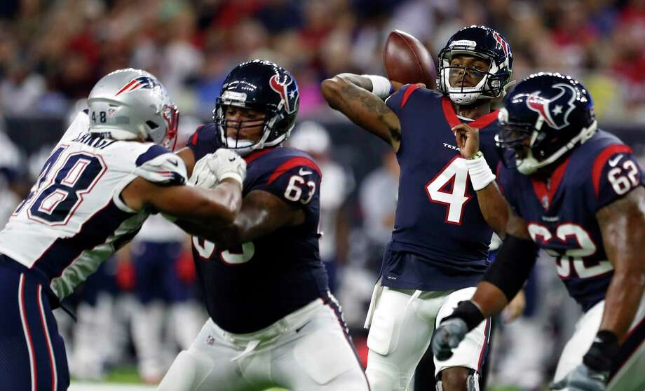 Texans rookie QB Deshaun Watson is coming off a decorated college career, but his NFL days will start by watching from the bench. Photo: Karen Warren, Staff Photographer / @ 2017 Houston Chronicle