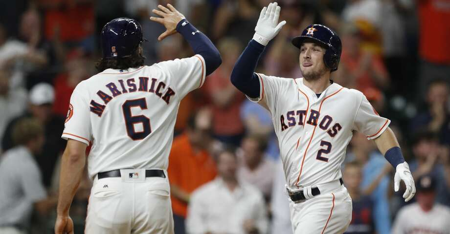 PHOTOS: Aug. 23: Astros 6, Nationals 1Houston Astros Alex Bregman (2) celebrates his three-run home run with Jake Marisnick (6) in the eighth inning of an MLB baseball game at Minute Maid Park, Wednesday, Aug. 23, 2017, in Houston.  ( Karen Warren / Houston Chronicle )Browse through the photos to see action from the Astros' win on Wednesday Photo: Karen Warren/Houston Chronicle