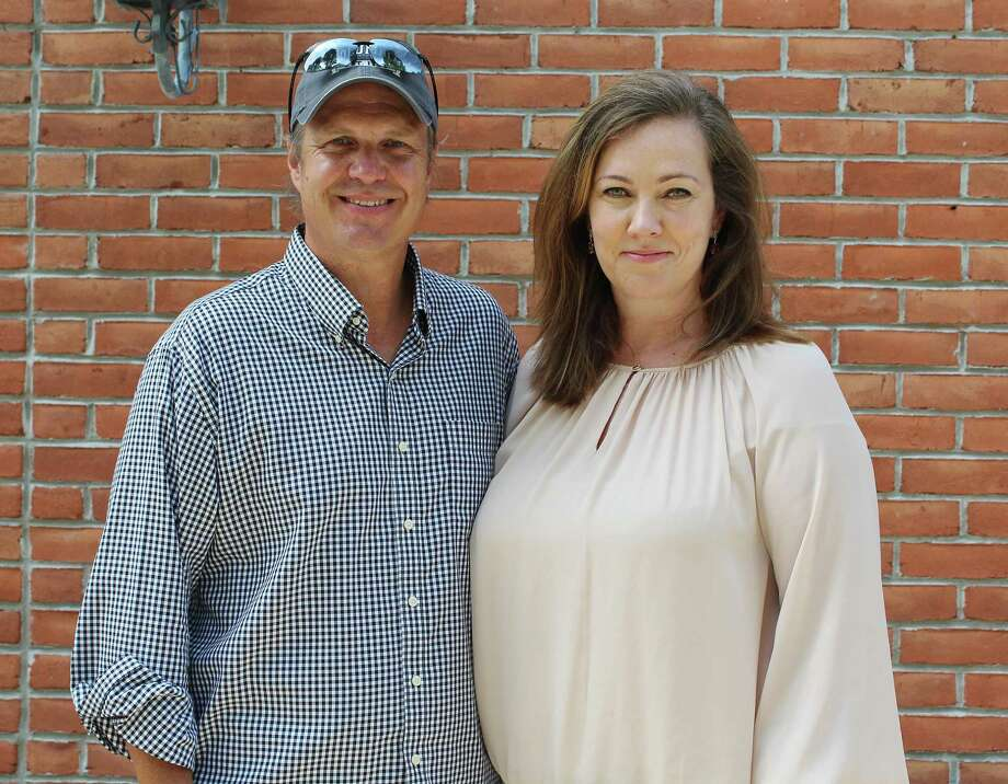 Craig and Monica Dobson, of Darien, on Aug. 21. Photo: Erin Kayata / Hearst Connecticut Media / Darien News