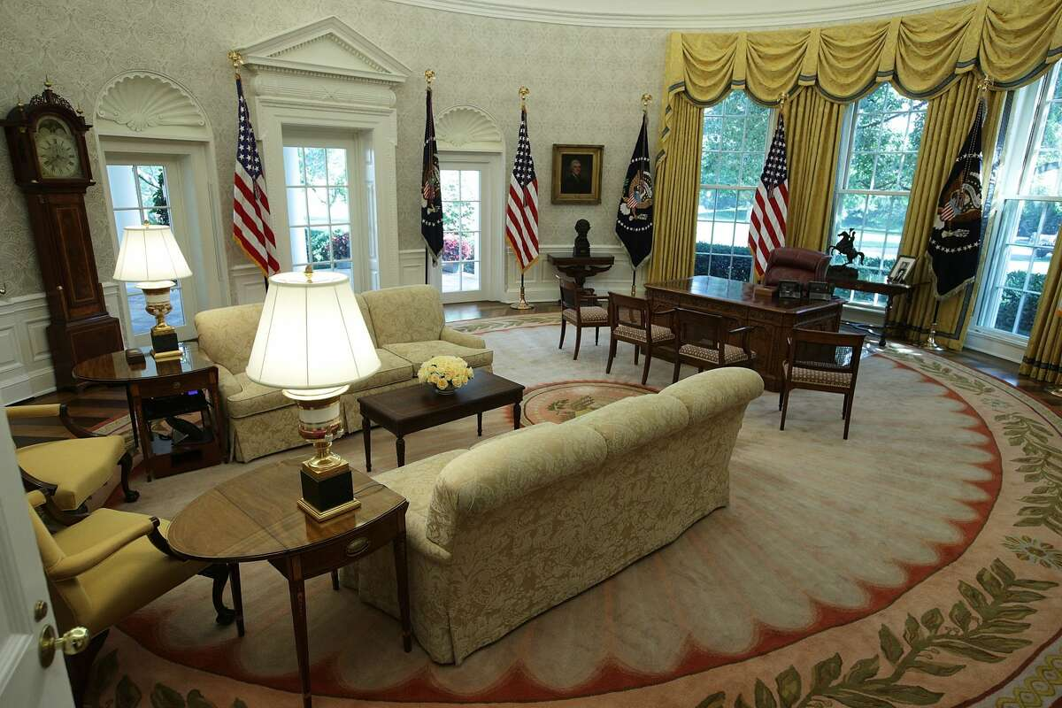 The Oval Office of the White House is seen after renovations, August 22, 2017 in Washington, DC. The White House has undergone a major renovation with an upgrade of the HVAC system at the West Wing, the South Portico steps, the Navy mess kitchen, and the lower lobby.