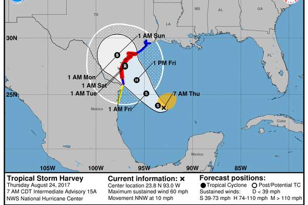 Texas Beaches Closing As Hurricane Harvey Makes Its Way Toward Coast