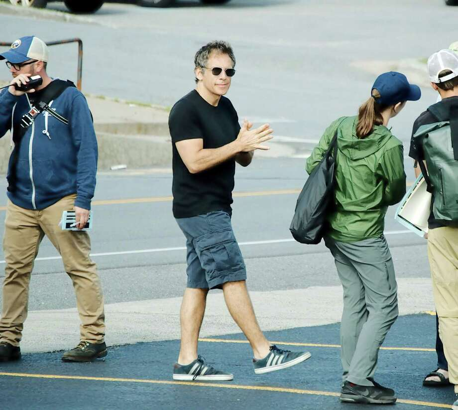 Click through for photos of director Ben Stiller filming an eight-part Showtime miniseries on the 2015 Clinton County Correctional Facility in Dannemora.Above, Stiller and his crew rolled into Clinton County the week of Aug. 20, 2017, to begin filming.  Photo: J.P. Cerone/Special To The Times Union