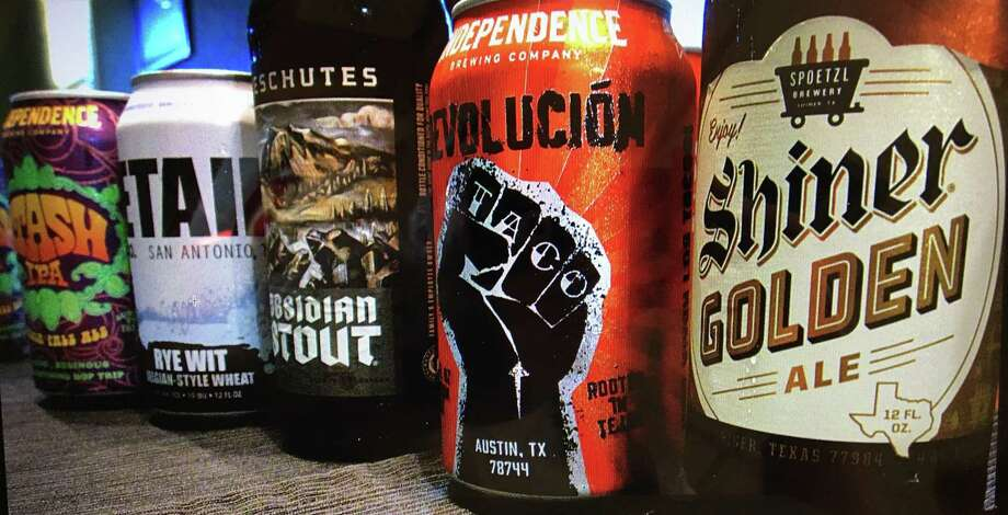 From left: Independence Stash IPA, Freetail Rye Wit, Deschutes Obsidian Stout, Independence Revolución and Shiner Golden Ale. Photo: Mike Sutter / San Antonio Express-News / San Antonio Express-News