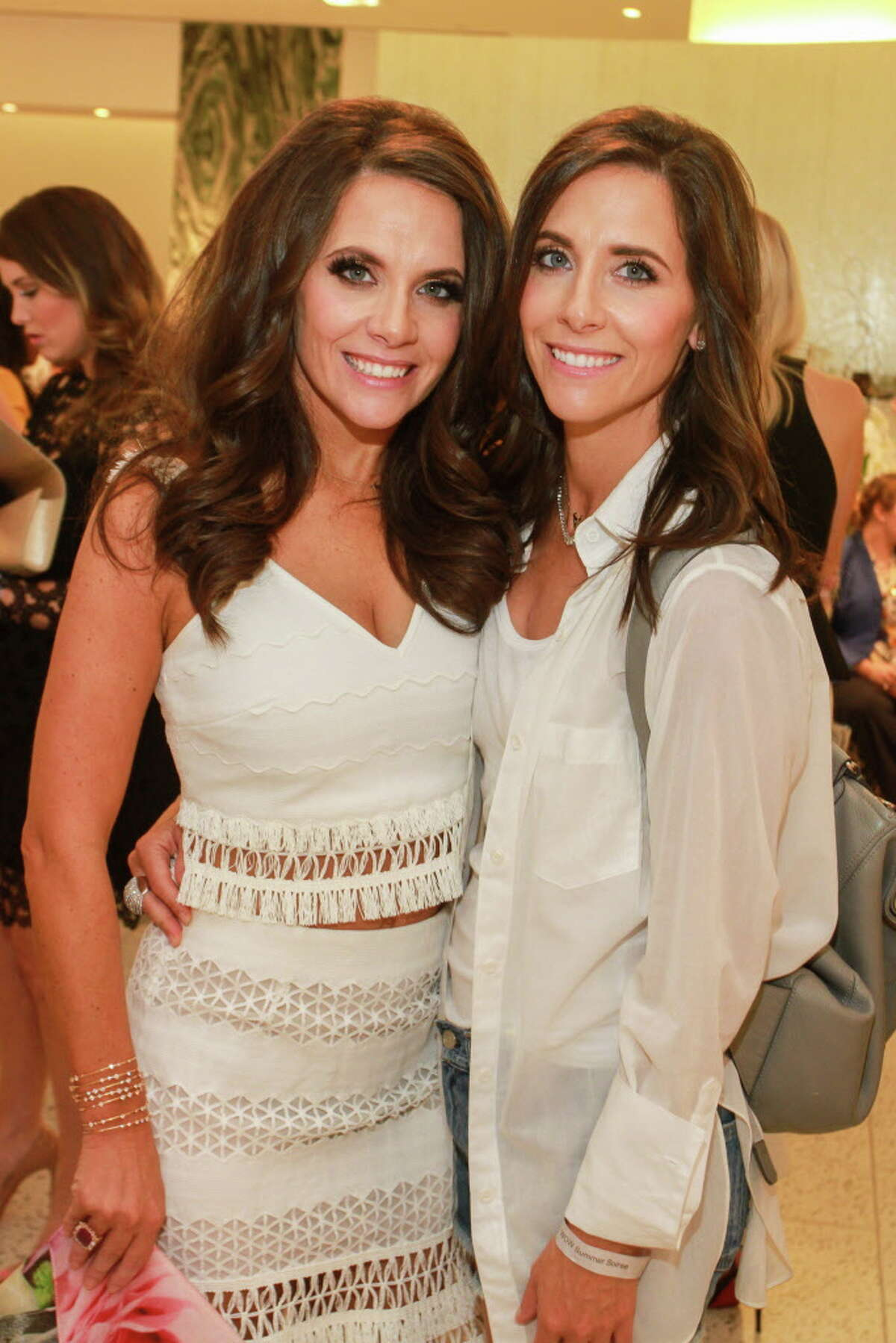 """Joanna Hartland Marks, left, and Hannah McNair at """"Sizzling Summer Soiree"""" hosted by Dress for Success Houston's Women of Wardrobe, at Tootsies. (For the Chronicle/Gary Fountain, August 23, 2017)"""
