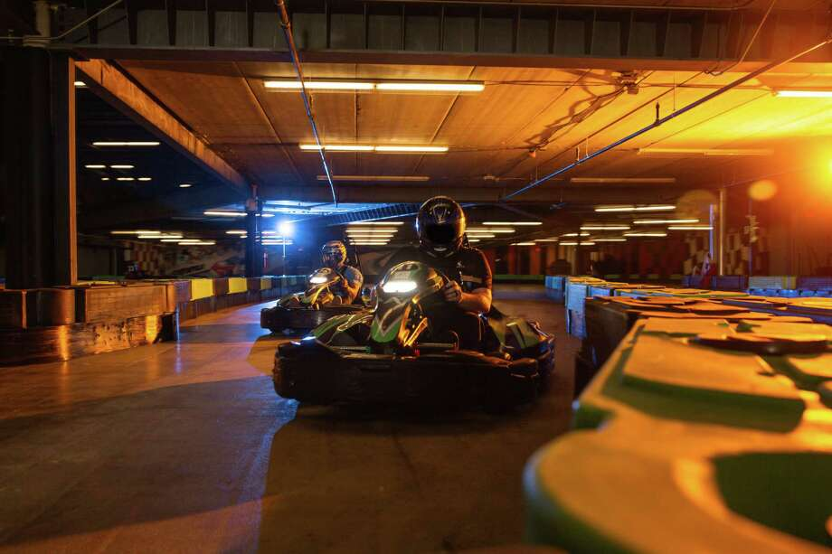 "Click ahead to see San Antonio-area go-kart locations:1. Andretti Indoor Karting & Games 5527 N Loop 1604 W, 210-469-0700, andrettikarting.com/sanantonio""Conquer Andretti's twisty tri-level course in electric BIZ Karts, which run as fast as 45 mpg for adult-level racers ages 13 and older, and 25 miles per hour for junior-level racers ages 7 and up. Littler ones at least 3 feet tall can race special 'Mini Mario' karts on a pear-shaped junior track. Single race rates for non-members are $21.95 for adult, $17.95 for junior, and $5.95 for 'Mini Mario' races."" - Express-News report. Photo: Andretti Indoor Karting & Games"
