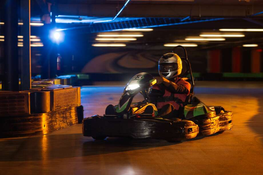 Georgia-based Andretti Indoor Karting and Games plans to open a 100,000-square-foot indoor entertainment complex with a go-cart track, laser tag arena, virtual reality attractions and more than 100 arcade games in summer 2018 near The Rim shopping center. Photo: Courtesy/Andretti Indoor Karting And Games