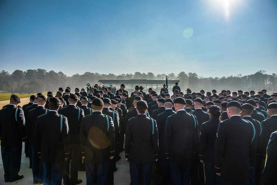 In a photo provided by the Army, soldiers at a training graduation ceremony at Fort Benning, Ga., in March 2017. A number of drill sergeants at Fort Benning have been suspended amid an investigation into sexual misconduct, the Army disclosed on Aug. 23, 2017. (Patrick A. Albright/U.S. Army via The New York Times) -- FOR EDITORIAL USE ONLY-- Photo: PATRICK A. ALBRIGHT, HO / NYT / U.S. ARMY
