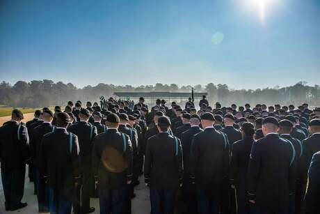 In a photo provided by the Army, soldiers at a training graduation ceremony at Fort Benning, Ga., in March 2017. A number of drill sergeants at Fort Benning have been suspended amid an investigation into sexual misconduct, the Army disclosed on Aug. 23, 2017. (Patrick A. Albright/U.S. Army via The New York Times) -- FOR EDITORIAL USE ONLY--