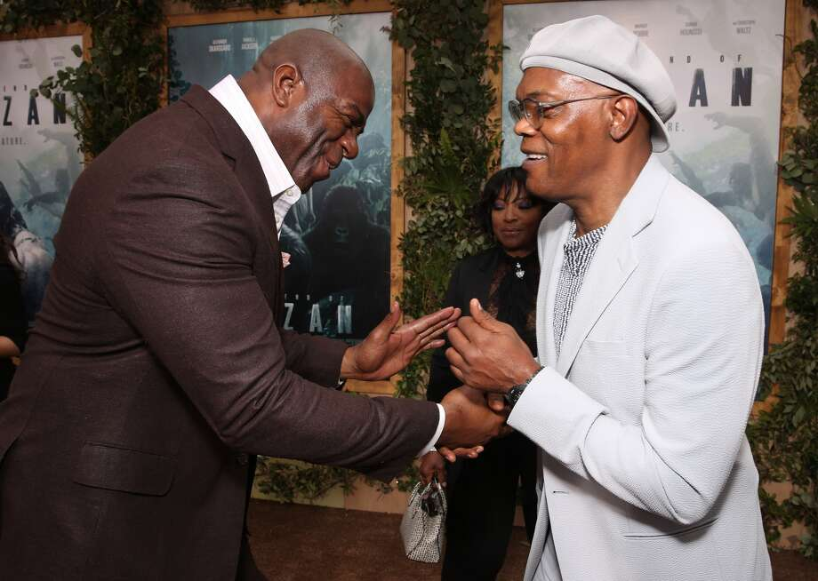 HOLLYWOOD, CA - JUNE 27: Magic Johnson and Samuel L. Jackson attend the premiere Of Warner Bros. Pictures' 'The Legend Of Tarzan' at TCL Chinese Theatre on June 27, 2016 in Hollywood, California. (Photo by Todd Williamson/Getty Images) Photo: (Photo By Todd Williamson/Getty Images)