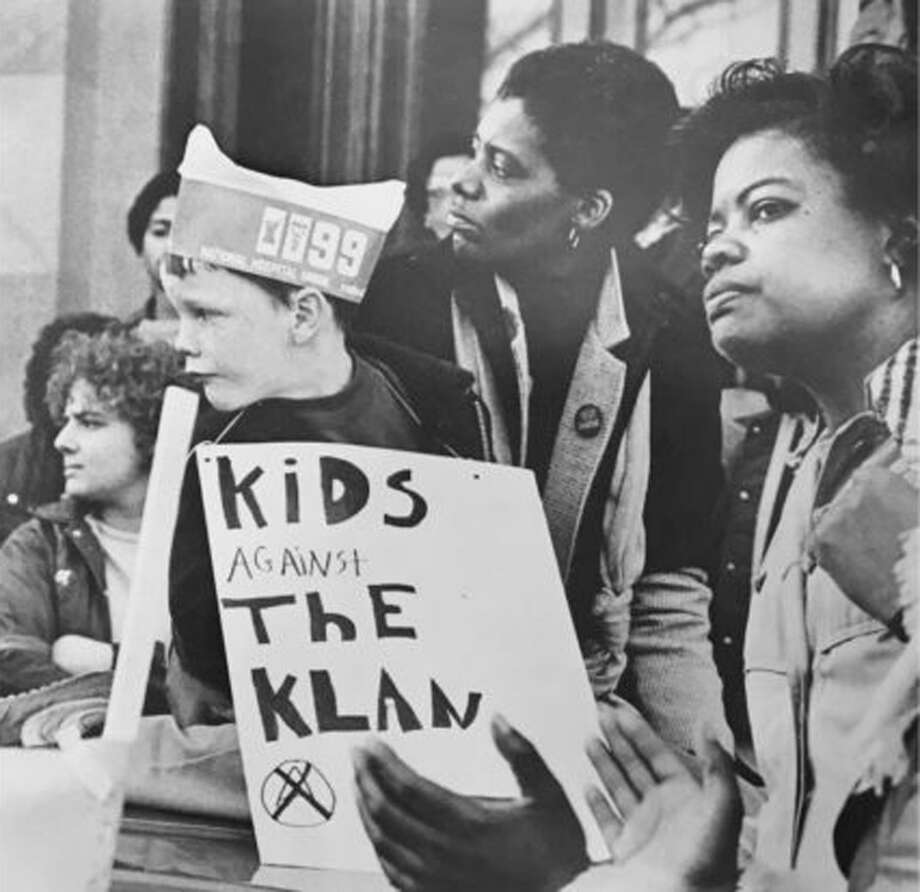 """Some of the 2,000 participants in the """"Unity Day: Stand Against the Klan"""" rally at the State Capitol in Hartford, March 20, 1983. Photo: Darien News / Contributed Photo / Darien News"""