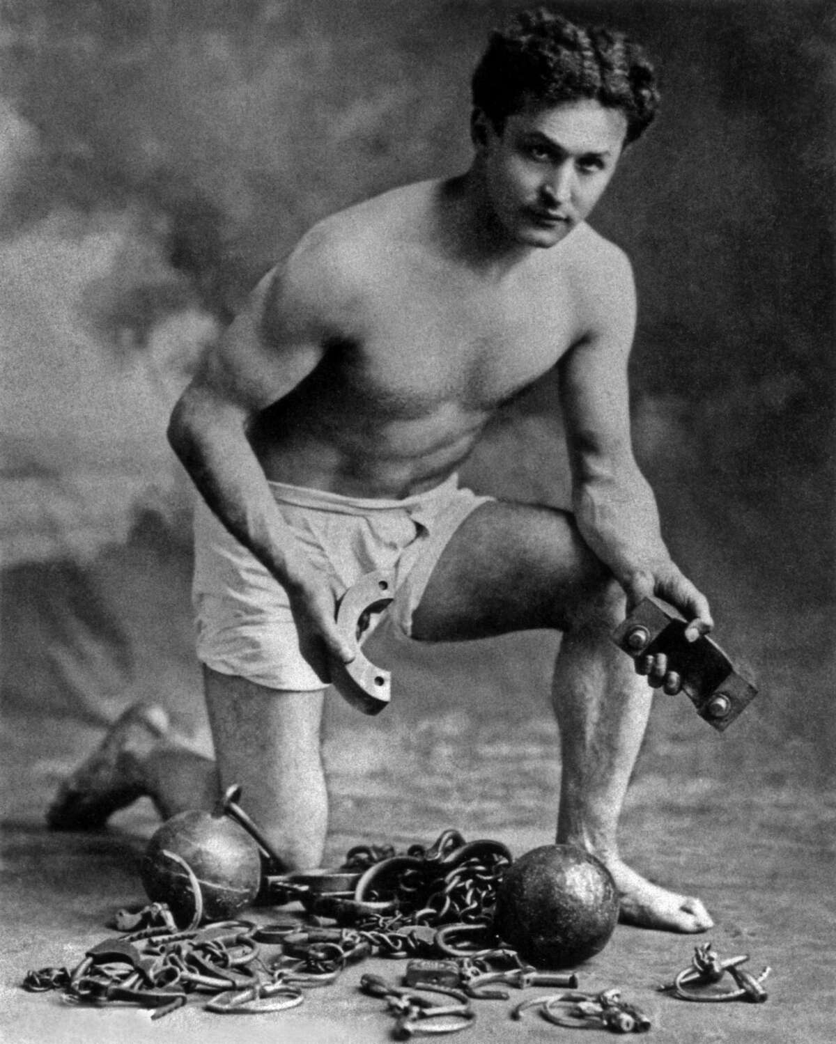 Harry Houdini seen in a 1906 publicity photo.