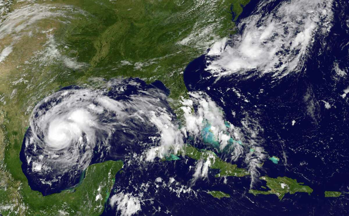Thia NOAA-NASA GOES Project satellite image taken at 1737 UTC on August 24, 2017 shows storm activity off the south east coast of the US. See more images and projections of the storm.
