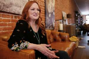 "In this Wednesday, June 14, 2017, photo, Ree Drummond speaks during an interview in Pawhuska, Okla. Growing up in a town she considered ""too small,"" Drummond sought the bright lights of a city and wound up in an even smaller town where she has built a virtual media empire on the Plains of northeast Oklahoma. (AP Photo/Sue Ogrocki)"