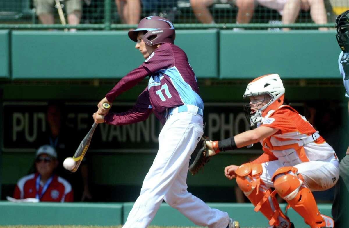 Fairfield American's Matthew Vivona in action during the Little League Baseball World Series in South Williamsport, Penn., on Sunday Aug. 20, 2017.
