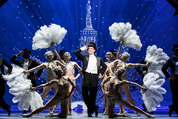 "Nick Spangler and the touring company of SHN's ""An American in Paris."""