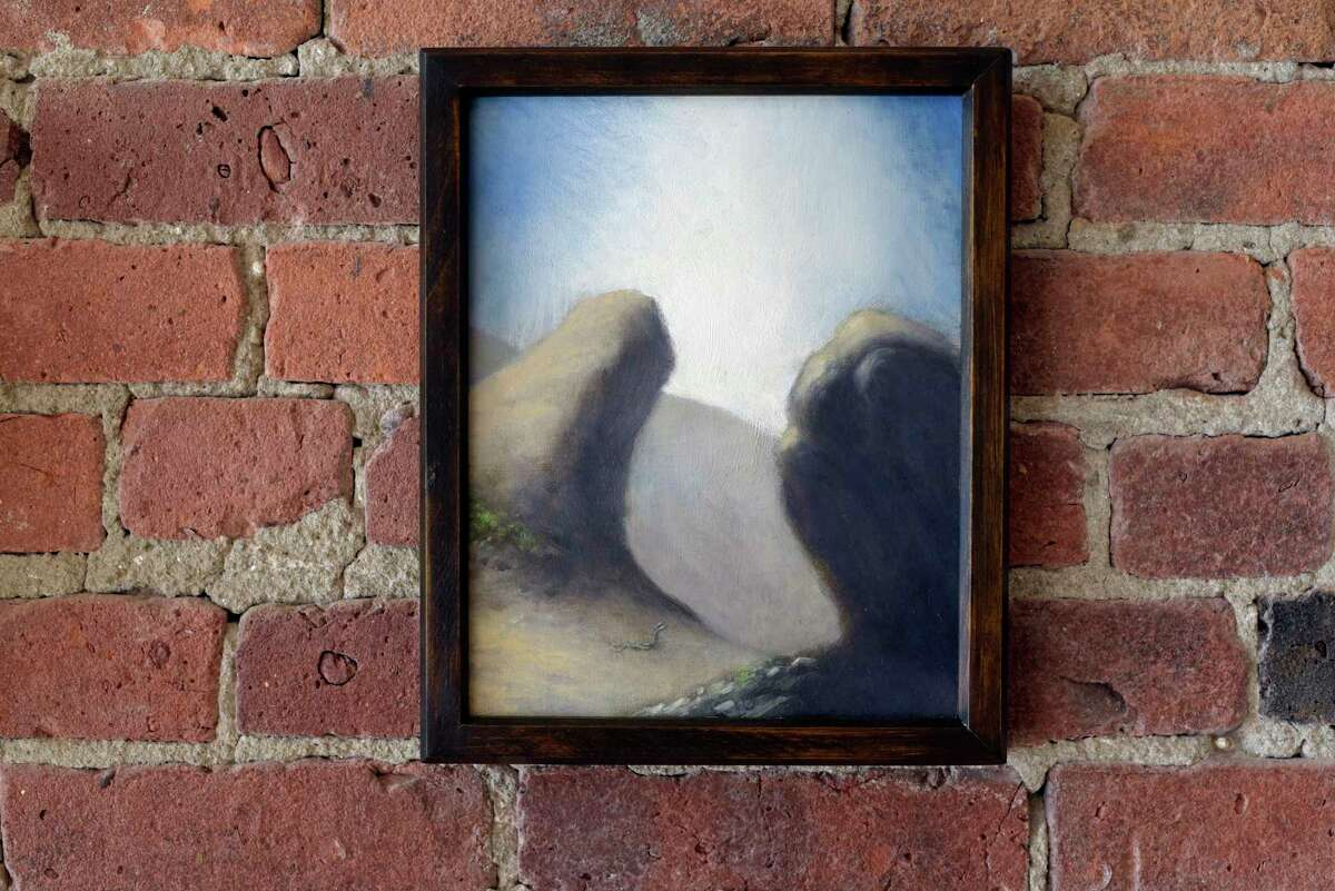 A view of a piece by artist Jeff Wigman titled
