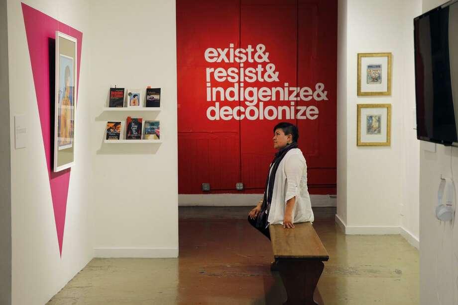 "Ani Rivera is director of Galería de la Raza, where ""Queerly Tèhuäntin / Cuir Us"" exhibition runs through Oct. 7. Photo: Santiago Mejia, The Chronicle / ONLINE_YES"