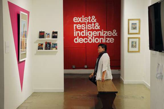 """Ani Rivera is director of Galería de la Raza, where """"Queerly Tèhuäntin / Cuir Us"""" exhibition runs through Oct. 7. The show celebrates the culture at the intersection of LGBTQ, Mexican and Chicano people."""
