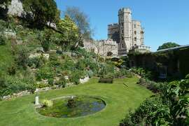 One of the many gardens on the grounds of Windsor Castle.