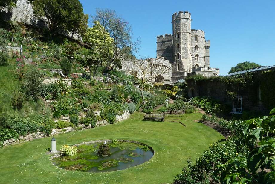 One of the many jewel-like gardens on the grounds of Windsor Castle, a site that dates to the 11t h century. Photo: Spud Hilton, The Chronicle