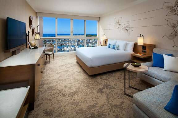 Many rooms in the newly renovated Prince Waikiki offer views of sailboats in Ala Wai Harbor.