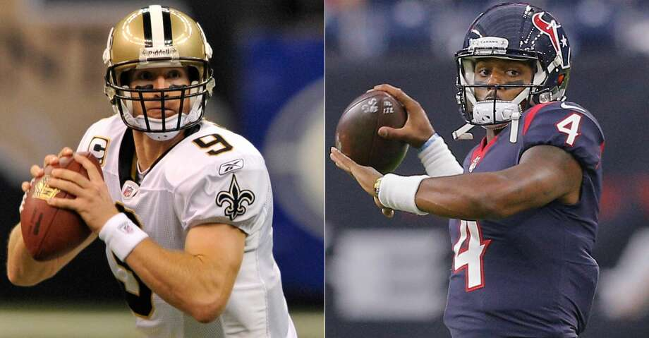 PHOTOS: Aug. 24: Texans-Saints practiceDrew Brees watched Deshaun Watson's star turn at Clemson, including his national title game victory over Alabama.Browse through the photos to see action from the Texans' joint practice with the New Orleans Saints. Photo: AP/Getty