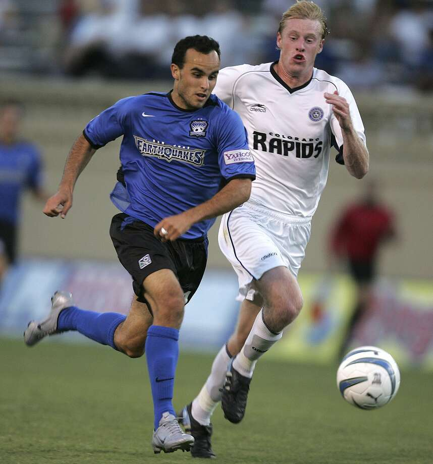 Landon Donovan started his MLS career with the Earthquakes from 2001-04, leading them to MLS titles in 2001 and 2003. Photo: JOHN TODD, Associated Press