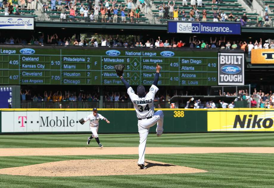 Felix Hernandez, P: DoubleGood breadth, but a bit short on the curvature. Photo: Otto Greule Jr/Getty Images, Getty Images