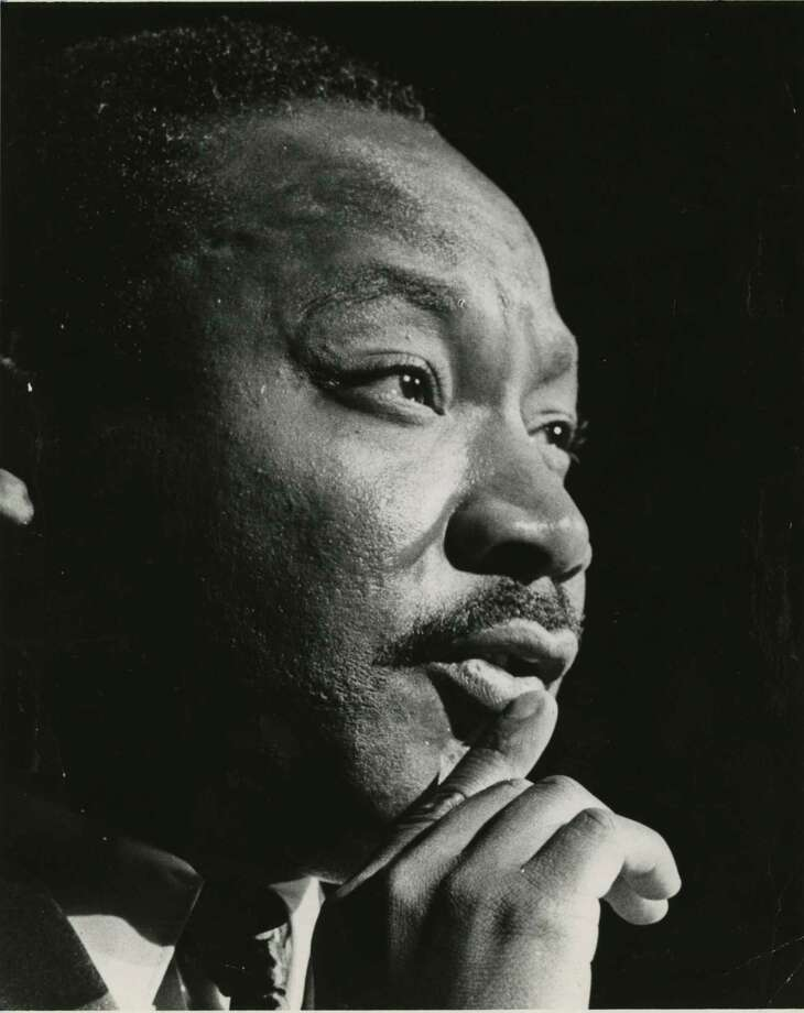 FILE - The Rev. Martin Luther King Jr. is shown at the Sam Houston Coliseum on Oct 17, 1967. Here are 13 movies about civil rights to watch this MLK Day. Photo: Blair Pittman, Houston Chronicle / Houston Chronicle