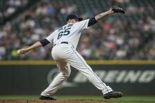 SEATTLE, WA - AUGUST 10: Starter James Paxton #65 of the Seattle Mariners delivers a pitch during a game against the Los Angeles Angels of Anaheim at Safeco Field on August 10, 2017 in Seattle, Washington. The Angels won the game 6-3. (Photo by Stephen Brashear/Getty Images)