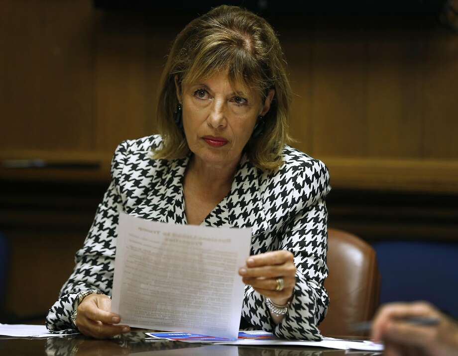 Rep. Jackie Speier meets with the Chronicle editorial board on Aug. 24, 2017. Photo: Paul Chinn, The Chronicle